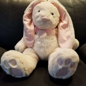 BUNNY EMBROIDERED EARS & PAWS ( CREME ) SIZE (L)