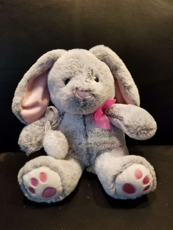 BUNNY EMBROIDERED EARS & PAWS ( GREY ) SIZE (R)