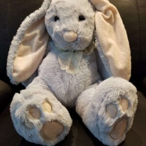 BUNNY EMBROIDERED EARS & PAWS ( BLUE ) SIZE (L)