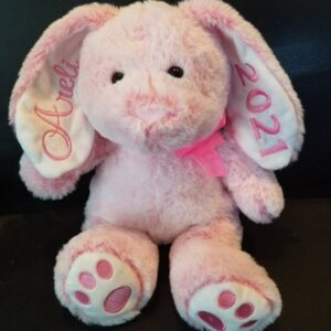 BUNNY EMBROIDERED EARS & PAWS ( PINK ) SIZE (R)